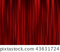 modern red curtain background. stage screen.  43631724