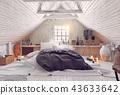 bedroom attic interior 43633642