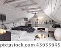 bedroom attic interior 43633645