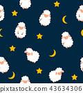sheep, pattern, seamless 43634306