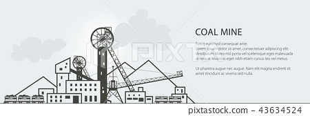 Coal Mining Banner 43634524