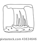 Canadian waterfall. Canada single icon in outline style vector symbol stock illustration web. 43634646