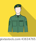 Soldier.Professions single icon in flat style vector symbol stock illustration web. 43634765