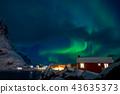 northern, lights, aurora 43635373