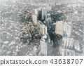 Aerial view sketch of Wilshire Blvd LA, CA 43638707