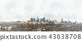 Panoramic view of Downtown Los Angeles 43638708