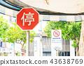 亚洲中国台湾台北街道号志交通路标行人法律 43638769