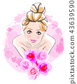 Image of bride pink background 43639590