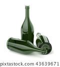 Empty bottles for alcoholic beverages 43639671