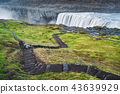 Landscape with waterfall Dettifoss, Iceland 43639929