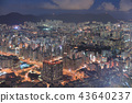 a View of night Kowloon from icc 43640237
