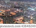 a View of night Kowloon from icc 43640240