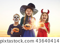 children on Halloween 43640414