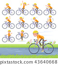 flat type short hair old women_road bike 43640668