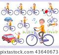 flat type short hair old women_city cycle 43640673