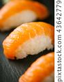 Macro shot of fresh made sushi 43642779