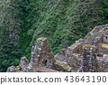 Historical ruins of an Inca town in the Andes. 43643190