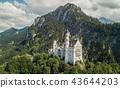 Aerial view of Neuschwanstein castle 43644203