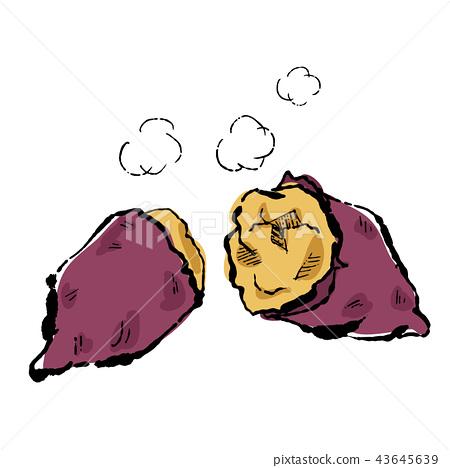 秋天味道紅薯例證 43645639