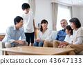 family, household, three generations 43647133