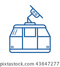 Funicular or Cable Car Vector Icon 43647277