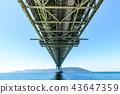 아카시 해협 대교, 바다, 다리 43647359