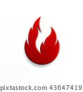 Fire flame with negative space. 3D render illustration 43647419