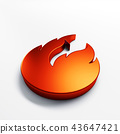 Fire flame with negative space. 3D render illustration 43647421
