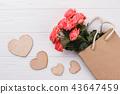 Rose flowers in shopping bag. 43647459