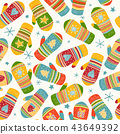 Colorful mittens pattern 43649392