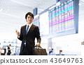 Business smartphone airport businessman business trip 43649763