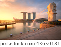 Aerial view of Singapore in morning 43650181