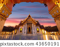 Wat Benchamabophit temple in morning 43650191
