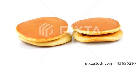 japanese pancakes on white background.Dorayaki 43650297