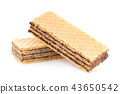 wafers with chocolate isolated on white background 43650542