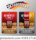 Oktoberfest beer festival flyer & poster template 43651718