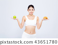 Beautiful asian woman slim shape with diet 43651780