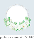wreath decorated with orchid and pearls 43653107