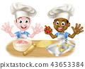 Cartoon Boys Cooking 43653384