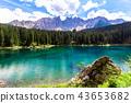 Dolomites, Karersee, Landscape 43653682