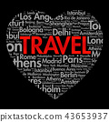 TRAVEL love heart word cloud 43653937