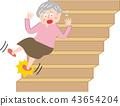 資深婦女傷害台階台階 43654204