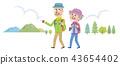 老年夫婦 遠足 登山 43654402