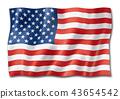 United States flag isolated on white 43654542