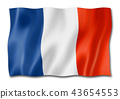French flag isolated on white 43654553