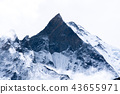Mountain peak in Himalayas, Nepal 43655971