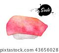 Sushi isolated on white background 43656028
