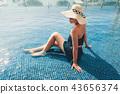 Summer concept, Portrait of asian woman 43656374
