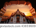 Landmark of Marble Temple of Bangkok  43659609