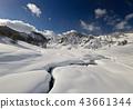 Winter landscape in the italian Alps 43661344
